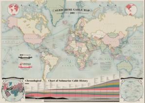 O nouă HARTĂ care îţi arată pe unde circulă internetul