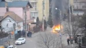 Maşină arsă în Cluj Napoca