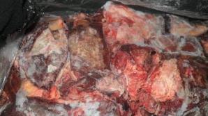 Sute de kilograme de carne congelată, descoperite pe marginea unui lac din Cluj