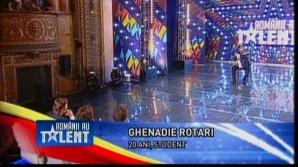 """Românii au talent. Ghenadie Rotari l-a făcut pe Andi Moisescu să spună: """"Mi-a luat piuitul"""""""
