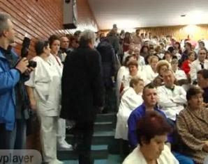 Protestul are loc la Spitalul Municipal din Hunedoara