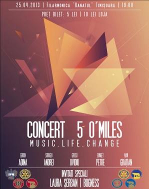 """Concert 5 O'Miles la Filarmonica """"Banatul"""" din Timișoara"""