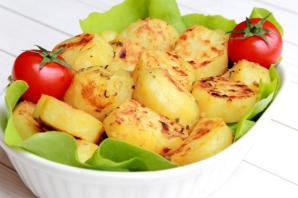 Cartofi cu usturoi şi muştar la cuptor