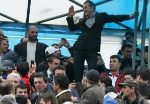 Gigi Becli şi fanii echipei Steaua