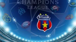 """Steaua va juca trei """"duble"""" până la grupele Champions League"""