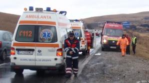 Accident cu trei răniţi la Mociu după o depăşire a unui BMW care circula cu 169 km/h