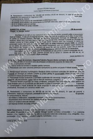 SUBIECTE ROMÂNĂ SCRIS EVALUARE NAŢIONALĂ 2013
