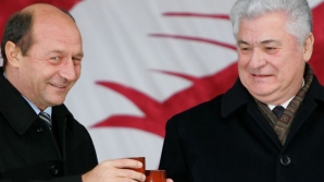 Traian Băsescu și Vladimir Voronin