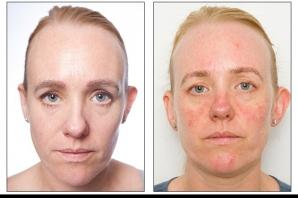 EXPERIMENT. Cum arată o femeie după ce nu şi-a îndepărtat machiajul noaptea timp de 30 de zile?