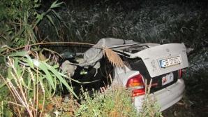 Maşina a fost distrusă în urma impactului