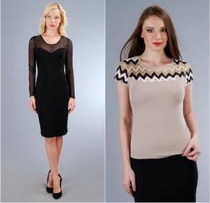 Vei arăta senzațional dacă alegi o rochie neagra din colecția Yokko sau un tricou din dantela multicolora