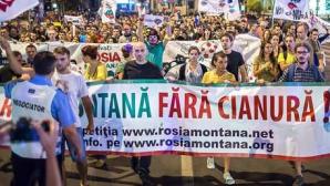Un nou protest faţă de proiectul minier de la Roşia Montană