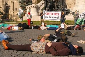 Cluj-Napoca. Tragedia de la Certej, comemorată cu un flash-mob împotriva cianurilor