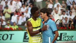 Federer, învins de Monfils