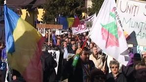 Proteste cu rugăciuni la Câmpeni