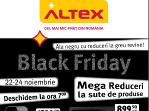Altex a publicat catalogul de reduceri pentru Black Friday