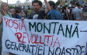 Încă o zi de proteste legate de Roşia Montană