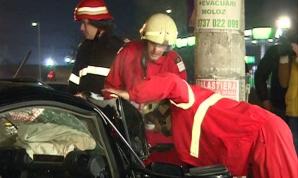 Accident noaptea trecută în Bucureşti