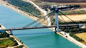 CNADNR: Circulația rutieră pe podul de la Agigea se desfășoară doar pe două benzi, în perioada 22 ianuarie - 7 februarie