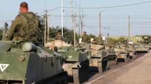 Blindate ruseşti, la graniţa ucraineană