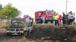 ACCIDENT CUMPLIT în Buzău: victima a ars de vie în maşină