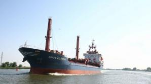 Zeci de nave blocate pe Dunăre, în zona Portului Moldova Veche, din cauza vântului puternic / Foto: adevarul.ro
