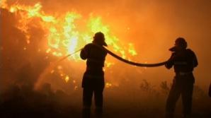 Incendiu violent la o uzină electrică din judeţul Cluj