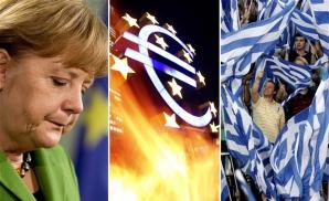 Merkel, față în față cu Grexitul