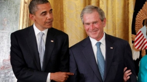 George W. Bush, mai popular decât Barack Obama - sondaj