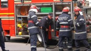 Incendiu puternic la ieşire din Bucureşti