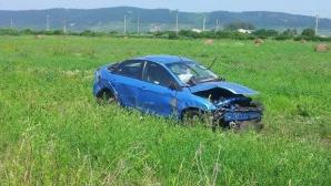 Accident spectaculos în judeţul Cluj. S-a dat cu maşina peste cap / Foto: dejeanul.ro