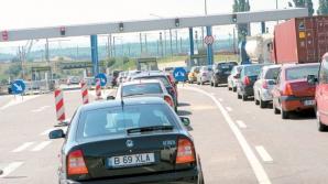 Coloana de maşini pe autostrada Soarelui