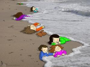 Criza imigranţilor, imaginea neputinţei. Omagiu copleşitor pentru copilul sirian găsit fără suflare