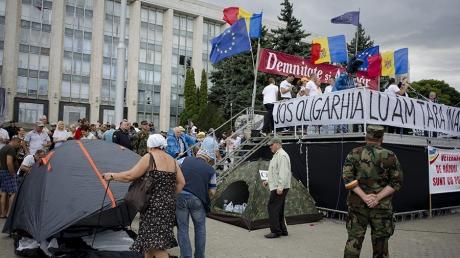 Un nou protest masiv la Chișinău. Manifestanții îndeamnă populația la nesupunere și grevă generală