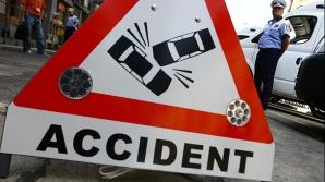 Accident pe DN 1. Patru maşini, implicate. Se circulă doar pe o bandă