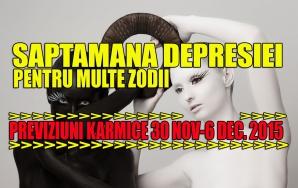 Previziuni karmice 30 noiembrie – 6 decembrie 2015. Săptămâna depresiei pentru o serie de zodii