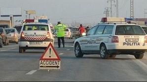 Accident rutier grav în ziua de Crăciun, în Dej. Şoferul a scăpat cu viaţă în mod miraculos