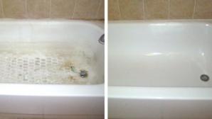 Cum poţi curăţa o cadă pătată