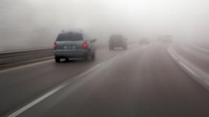Cod Galben de ceaţă şi vânt, în această dimineaţă. Judeţele afectate