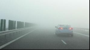 Cod galben de ceaţă. Vizibilitate redusă pe autostrăzile A1 şi A2