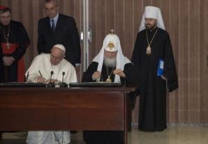 Papa Francisc si Patriahul Kirill