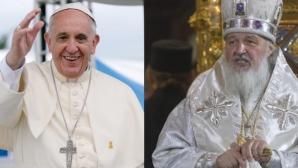 """Întâlnirea istorică între Papa Francisc şi Patriarhul Kirill s-a încheiat: """"E voinţa lui Dumnezeu"""""""