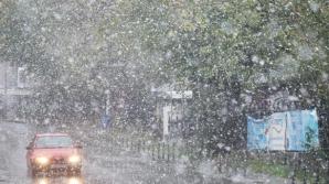 Explicații pentru ninsoarea neobișnuită de sâmbătă din București