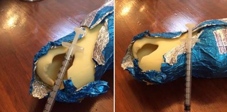 A cumpărat un iepuraş de ciocolată pentru copil. Când l-a desfăcut, a îngheţat! Înăuntru...
