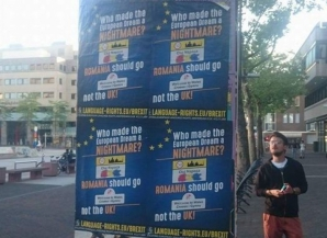 """FOTO. Afişe în Olanda: """"Cine a transformat visul european într-un coşmar? România trebuie să ..."""""""