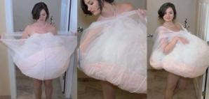 Au râs când au văzut această rochie de mireasă. Însă este genial ce se ascunde în spatele imaginii