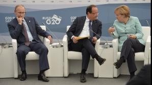 Putin, Hollande, Merkel
