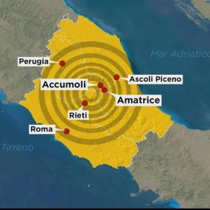 Harta oraşelor afectate de cutremurul din Italia