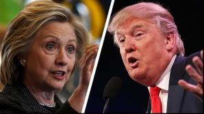 Hillary Clinton îl devansează cu 5% pe Donald Trump