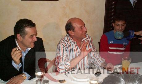 Gigi Becali si Traian Basescu, la Golden Blitz. Foto: Cristian Otopeanu